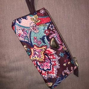 Oilily wallet with wrist strap new